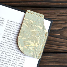 Mary Bookmark Mint Green Gold Fleck