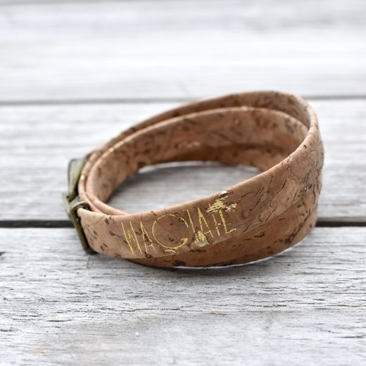 Reed Natural Gold Fleck Cork Wrap Bracelet